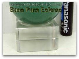 Base Para Esferas Pequenas Modelo QUADRADO Recomendado  Esferas de 50 a 500gr