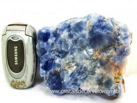 Calcita Azul Natural Raro com esta Cor Pedra Para Colecionador Cod 848.8