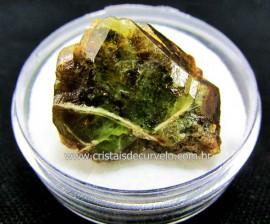 Esfenio Titanita Verde Mineral Natural No Estojo Para Colecionador Exigente Cod ET30.3