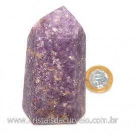Ponta Lepidolita Pedra Natural Gerador Sextavado Cod 119263