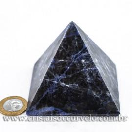 Pirâmide Pedra SODALITA Grande Baseada Queops Cod 120740
