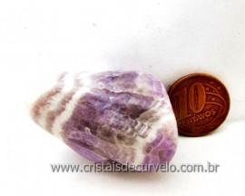 Chevron Pedra Rolado Ametista Lilas Mesclado Branco Unid Cod 30.6