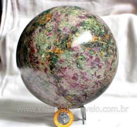Esfera Rubi Pedra Natural Incrustado No Corindon Rubis Verde Em Canudos Cod 4.819