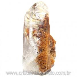 Lodolita Mineral Incrustado No Cristal de Quartzo Cod 114050