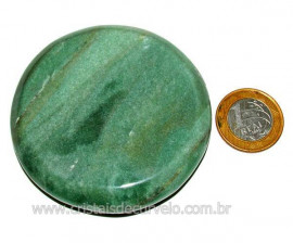 Massageador Disco Quartzo Verde Pedra Natural Cod 103298