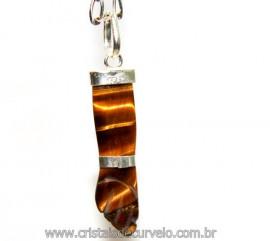 Figa Olho de Tigre Prata 950 Mini Pingente Amuleto Da Sorte e Proteção Reff PF9583