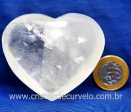 Coração Cristal Comum Qualidade Natural Garimpo Cod 127996