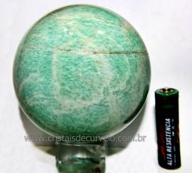 Esfera Amazonita Verde Pedra Natural de Garimpo Cod BA9075