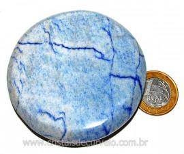 Massageador Disco Quartzo Azul Pedra Natural Cod 103314