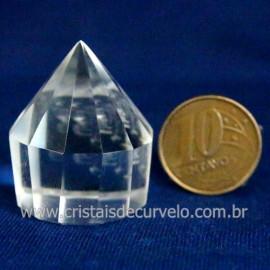 Voguel Cristal 01 Ponta Pedra Natural 12 Facetas Cod 123402