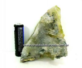 Drusa de Coleção Em Micro pontas de Cristais Matriz Geodo Calcedonia Cod 92.7