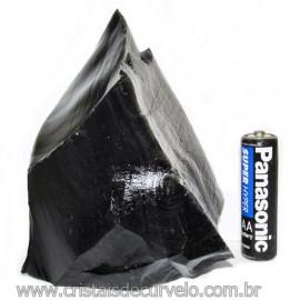 Obsidiana Negra Mineral Vulcanico Pedra Natural Cod 115858