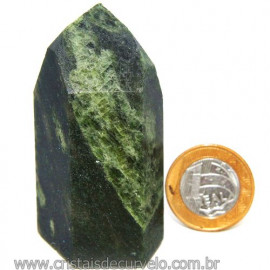 Ponta Epidoto Verde Na Matriz Ideal Para Coleção Cod 113181