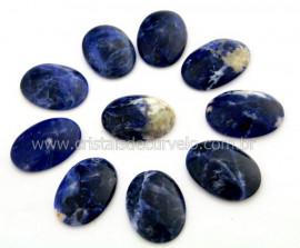 10 Cabochao Oval pra Pingente Pedra Sodalita Azul Lapidado Calibrado 18 x 25 MM