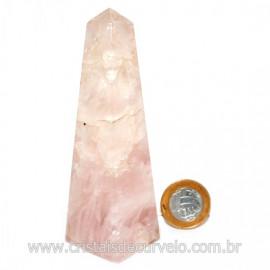 Obelisco Quartzo Rosa Natural Comum Qualidade Cod 127493