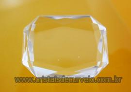 Cristal Gema Facetado Pedra Quartzo Cristalino Para Montagem de Joias Finas  Cod 34.9