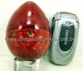 Ovo Pedra Quartzo Vermelho Pedra Natural ou Cristal Vermelho Natural Cod 364.4