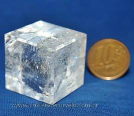 Cubo de Cristal Sólido de Platão Facetado Cod 107932
