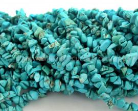 Fio Turquesa Azul Cascalho Extra Furado a Laser Pedra Natural Rolada e Furado 90cm