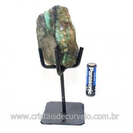 Esmeralda Canudo Pedra Natural com Suporte De Ferro Cod 121537