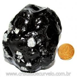 Obsidiana Flocos de Neve Pedra Vulcanica Natural Cod 114673