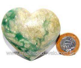 Coraçao Jade Verde Natural Origem Montes Claros MG Cod 117874