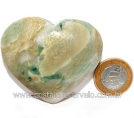 Coraçao Jade Verde Natural Origem Montes Claros MG Cod 121625
