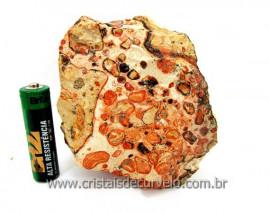 Leopardita ou Jaspe Leopardo Natural Da Africa Pedra Para Colecionador Cod 571.0