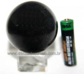 Esfera Pedra Quartzo Preto ou Quartzito Natural Cod BP6811