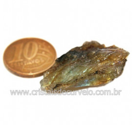 Labradorita Canadense Mineral Natural No Estojo Cod 123828
