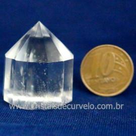 Voguel Cristal 01 Ponta Pedra Natural 12 Facetas Cod 123405