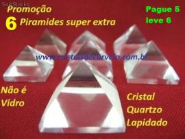 6 Piramides Cristal  Pacote Pague 5 leve 6 Medidas Baseada Queops 15 a 20 MM