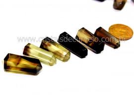 Bi Terminado QUARTZO BI COLOR Pedra Extra Lapidado Tamanho Mini 2.5  Cm