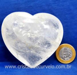 Coração Cristal Comum Qualidade Natural Garimpo Cod 127997