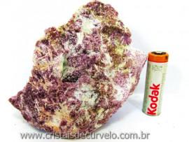 Lepidolita Mica Mineral Para Colecionador Pedra Natural de Garimpo Cod 520.0
