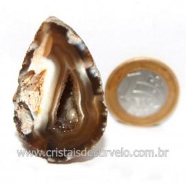 Geodo Ágata Cristais de Calcedônia em Cavidade Cod 121404
