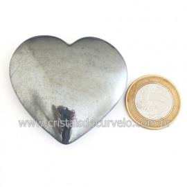Coração Hematita Pedra Natural Lapidação Manual Cod 121877