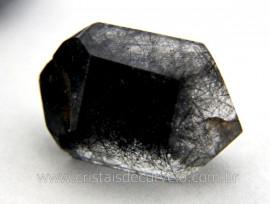 Quartzo Tibetano Pedra Natural Bi Terminado Inclusão Negra REFF 16.8