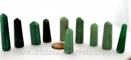 10 Pontinha Gerador QUARTZO VERDE  Pedra Extra Lapidado Tamanho 2.5  Cm