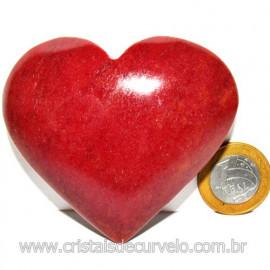 Coração Quartzo Vermelho Pedra Natural de Garimpo Cod 116020