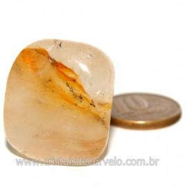 Hematoide Amarelo com Inclusão Dendrita Pedra Natural Cod 126210