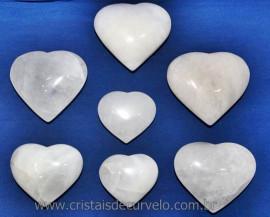 1 Kg Coração Quartzo Leitoso Atacado Pedra Natural Reff 101573