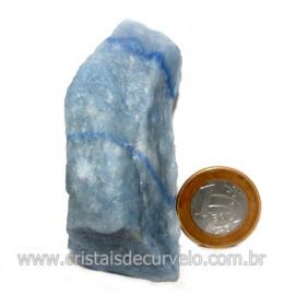 Quartzo Azul ou Aventurina Azul Bruto Natural Cod 123201