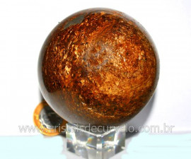 Esfera Bronzita Pedra Natural Mineral de Rocha Lapidado Manual cod 690.9
