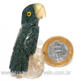 Periquito Pedra dolomita Passaro Base Mineral Natural cod 128278