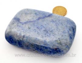 Sabonete Massageador Pedra QUARTZO AZUL Mineral de Garimpo Cod 194.8