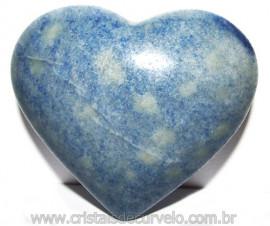 Coração Quartzo Azul Pedra Natural de Garimpo Cod 114986