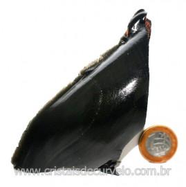 Obsidiana Negra Mineral Vulcanico Pedra Natural Cod 123964
