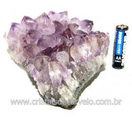 Drusa Ametista Pequena Pedra Natural Boa Cor Cod 119696