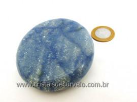 Massageador Disco Cristal Quartzo Azul Massagem Terapeutica Com Pedras Cod 197.7